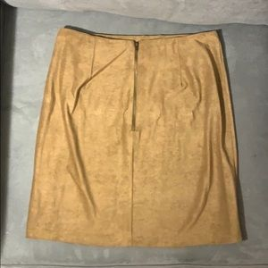 NWT Faux suede tan mini skirt with zipper